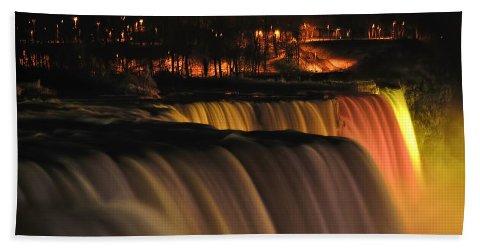 Bath Sheet featuring the photograph 01 Niagara Falls Usa Series by Michael Frank Jr