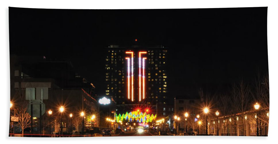 Bath Sheet featuring the photograph 03 Seneca Niagara Casino by Michael Frank Jr