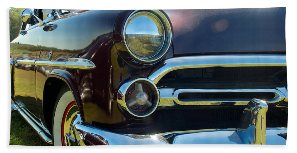 1952 Ford Customline Hand Towel featuring the photograph 1952 Ford Customline by Mark Dodd