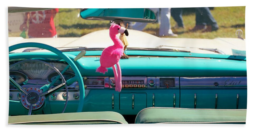 1959 Edsel Ford Hand Towel featuring the photograph 1959 Edsel Ford by Mark Dodd