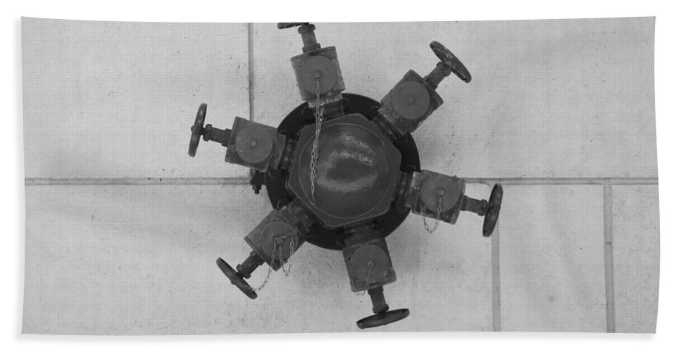 Mechanical Bath Sheet featuring the photograph 6 Valve by Rob Hans