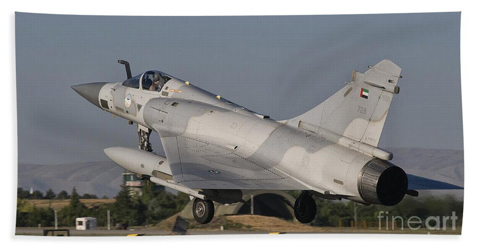 Turkey Bath Sheet featuring the photograph A Dassault Mirage 2000 Of The United by Giovanni Colla
