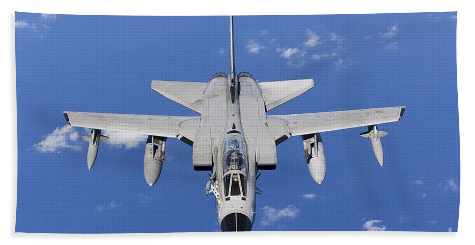 50 Stormo Bath Sheet featuring the photograph A Panavia Tornado Ids Of The Italian by Gert Kromhout