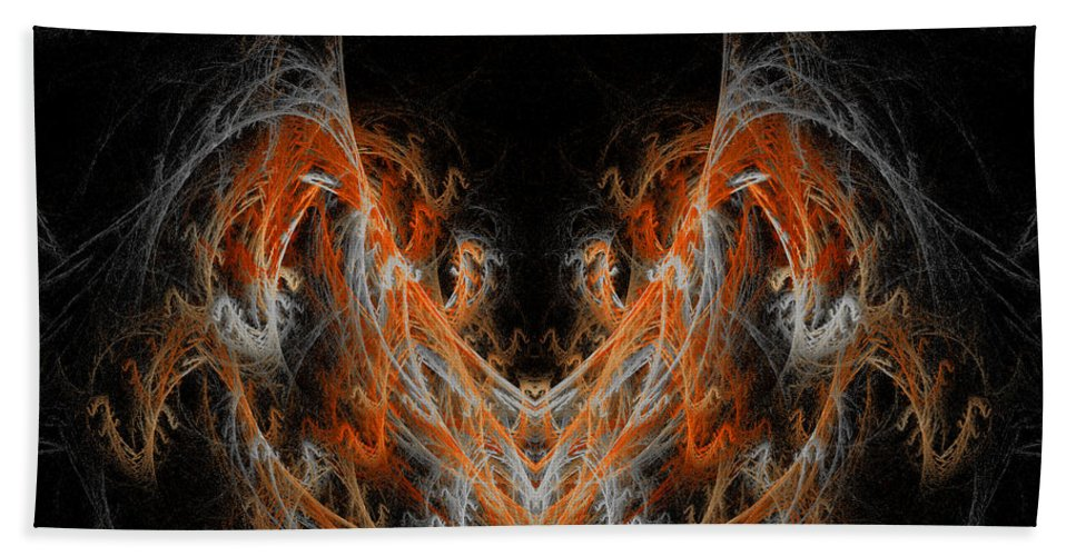 Fractal Digital Art Hand Towel featuring the photograph Abstract 171 by Mike Nellums