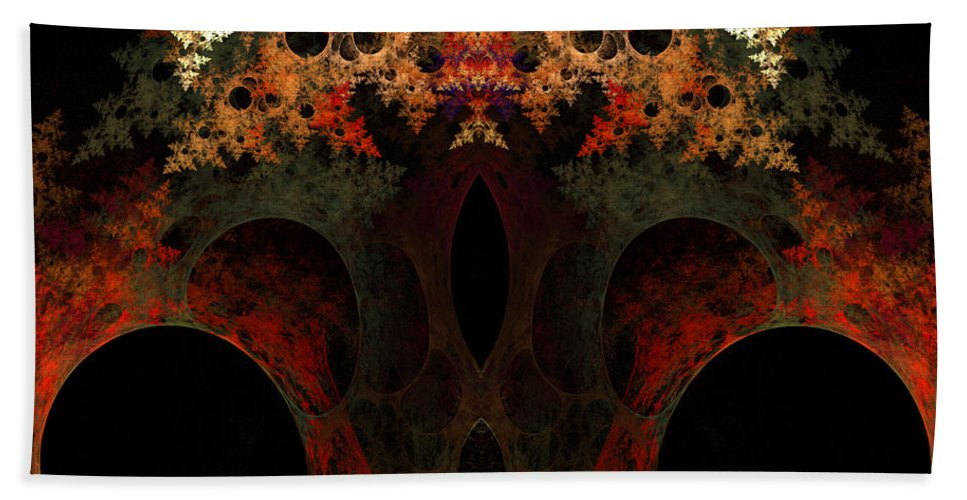 Fractal Digital Art Hand Towel featuring the photograph Abstract 175 by Mike Nellums