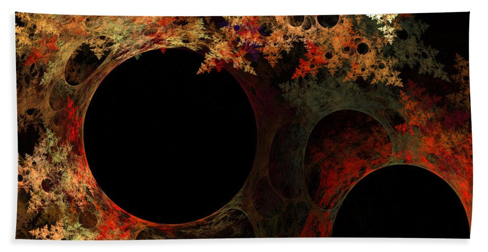 Fractal Digital Art Hand Towel featuring the photograph Abstract 176 by Mike Nellums