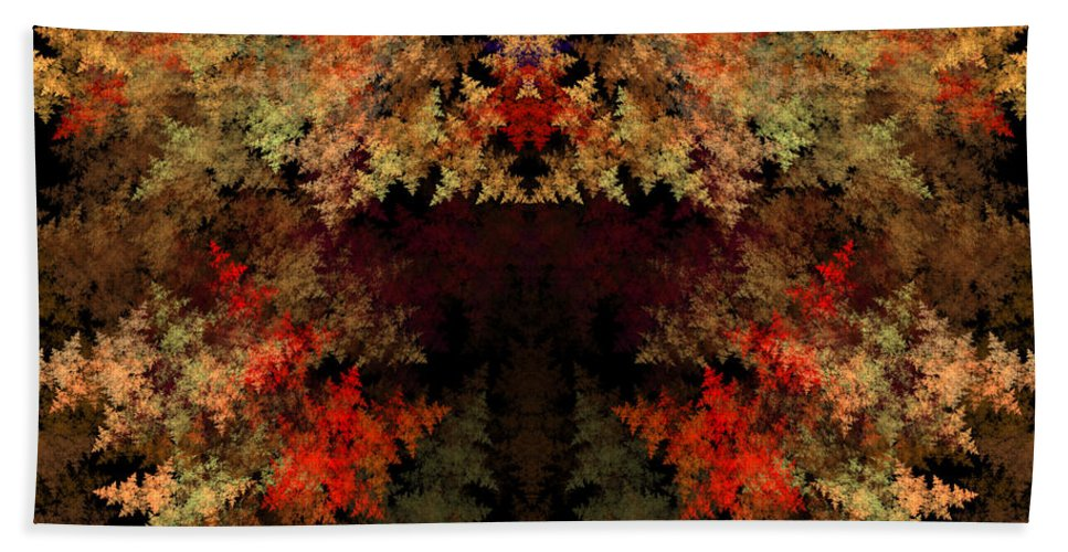 Fractal Digital Art Hand Towel featuring the photograph Abstract 177 by Mike Nellums