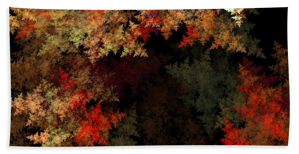 Fractal Digital Art Hand Towel featuring the photograph Abstract 179 by Mike Nellums