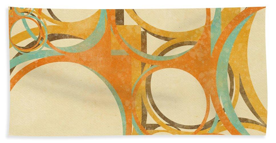 Art Hand Towel featuring the painting Abstract Circle by Setsiri Silapasuwanchai
