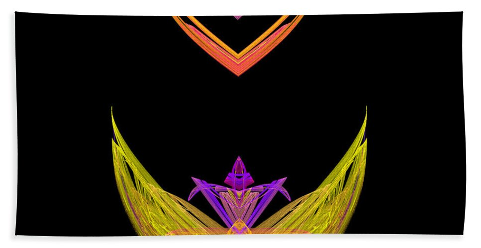 Fractal Digital Art Hand Towel featuring the photograph Abstract Fifty-five by Mike Nellums