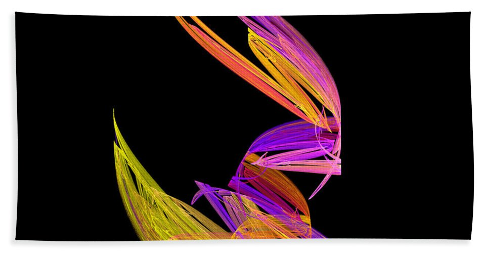 Fractal Digital Art Bath Sheet featuring the photograph Abstract Fifty-four by Mike Nellums