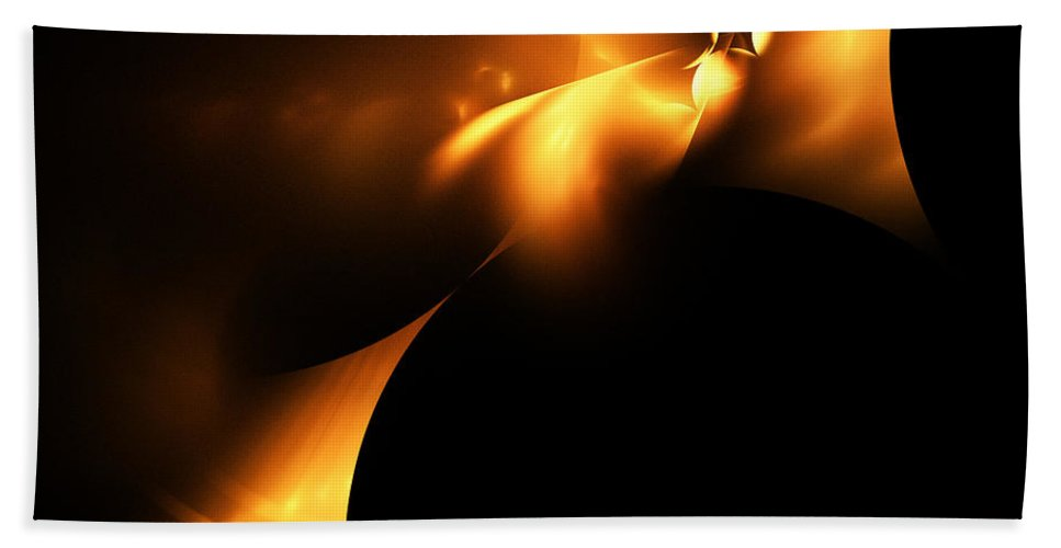 Fractal Digital Art Bath Sheet featuring the photograph Abstract Fifty by Mike Nellums