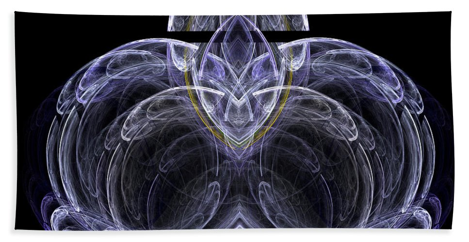 Fractal Digital Art Bath Sheet featuring the photograph Abstract Fifty-seven by Mike Nellums