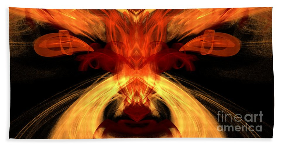 Fractal Digital Art Bath Sheet featuring the photograph Abstract Five by Mike Nellums