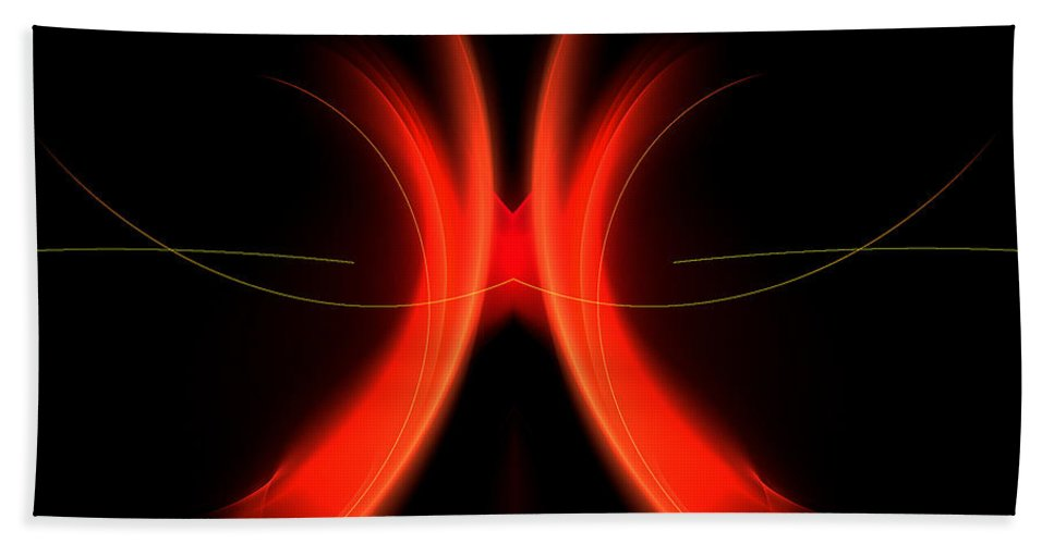 Fractal Digital Art Bath Sheet featuring the photograph Abstract Forty-five by Mike Nellums
