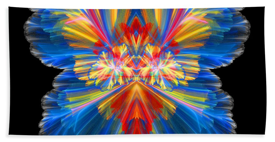 Fractal Digital Art Bath Sheet featuring the photograph Abstract Forty-nine by Mike Nellums