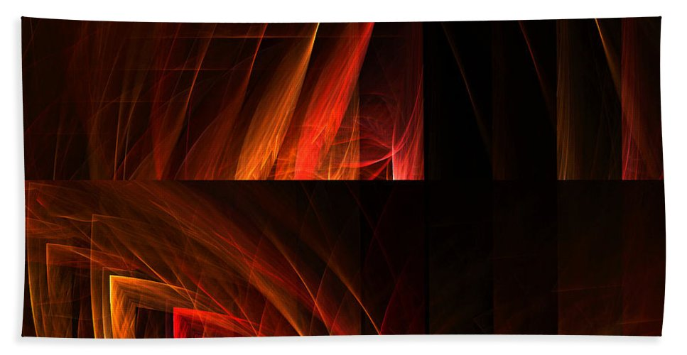 Fractal Digital Art Bath Sheet featuring the photograph Abstract Forty-seven by Mike Nellums