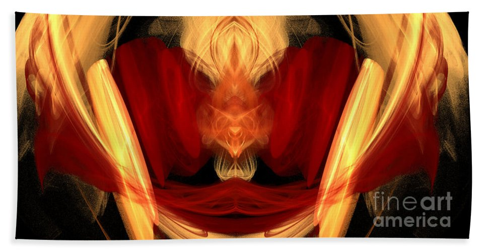 Fractal Digital Art Bath Sheet featuring the photograph Abstract Six by Mike Nellums