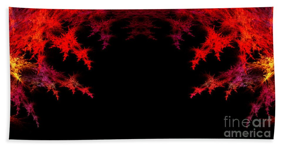 Fractal Digital Art Hand Towel featuring the photograph Abstract Twenty-seven by Mike Nellums