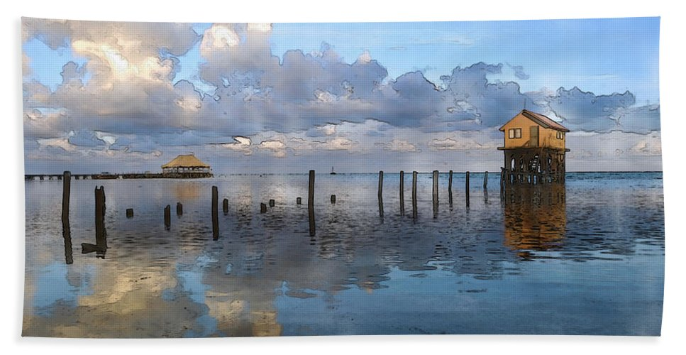 Abandoned Bath Sheet featuring the photograph Ambergris Caye Belize by Brandon Bourdages