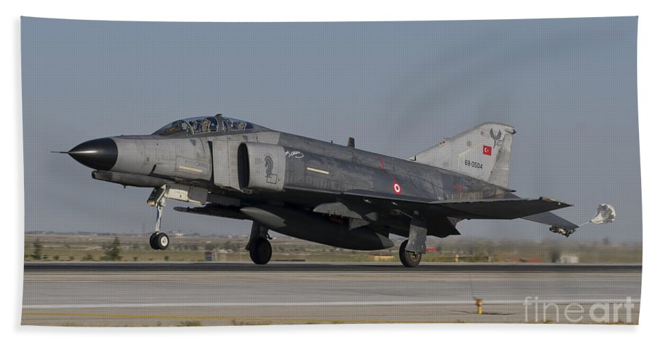 Turkey Bath Sheet featuring the photograph An F-4 Phantom Of The Turkish Air Force by Giovanni Colla