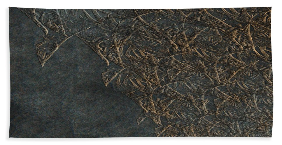 Ancient Fossils Hand Towel featuring the painting Ancient Fossils by Christopher Gaston