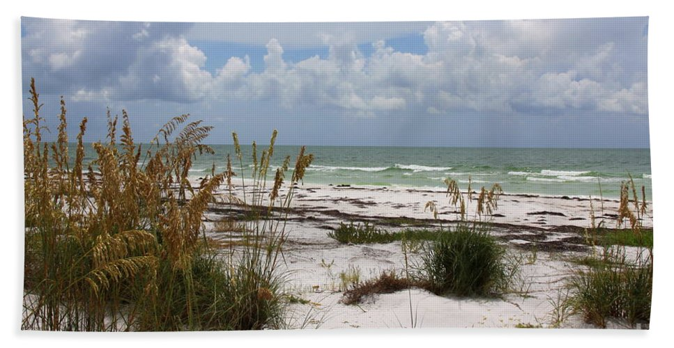 Anclote Key Preserve Bath Sheet featuring the photograph Anclote Key Preserve by Barbara Bowen