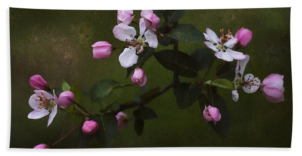 Floral Bath Sheet featuring the photograph Apple Blossom Time by Ron Jones