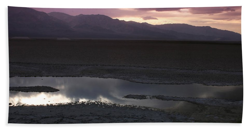 Badwater Basin Hand Towel featuring the photograph Badwater Basin Death Valley National Park by Benjamin Dahl