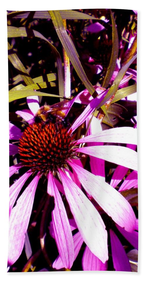 Purple Bath Sheet featuring the photograph Bees Please by Renate Nadi Wesley