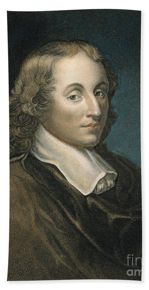 Blaise Bath Sheet featuring the photograph Blaise Pascal (1623-1662) by Granger