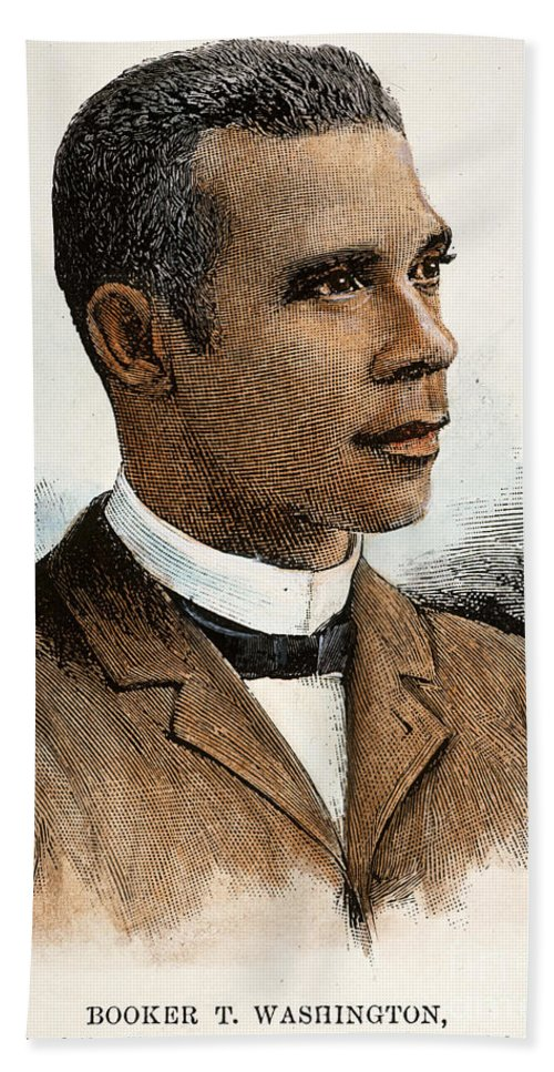 1895 Bath Sheet featuring the photograph Booker T. Washington by Granger