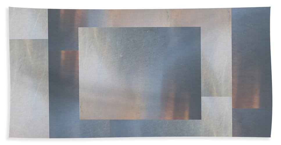 Abstract Hand Towel featuring the digital art Brushed 18 by Tim Allen