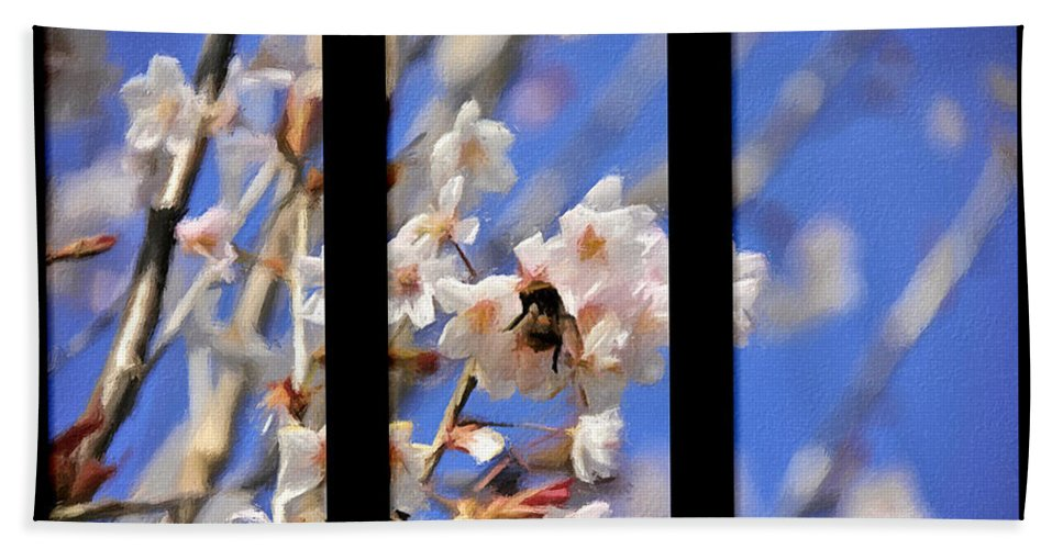 Triptych Hand Towel featuring the photograph Bumble Bee by Svetlana Sewell