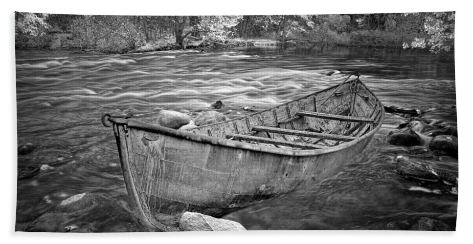 Art Bath Sheet featuring the photograph Canoe On The Thornapple River by Randall Nyhof