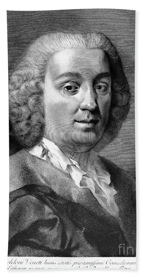 18th Century Hand Towel featuring the photograph Carlo Goldoni (1707-1793) by Granger