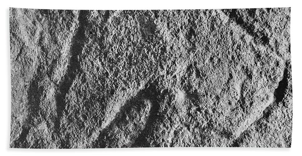 Art Bath Towel featuring the photograph Cave Art: Vulva by Granger