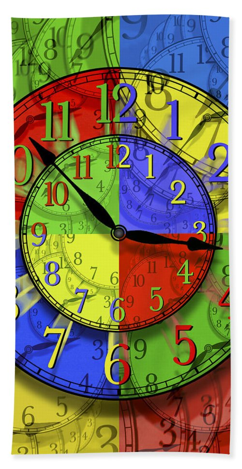 Clock Faces Bath Sheet featuring the photograph Changing Times by Mike McGlothlen