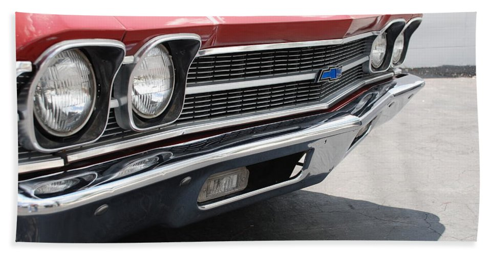 Chevy Hand Towel featuring the photograph Cherry Chevelle by Rob Hans
