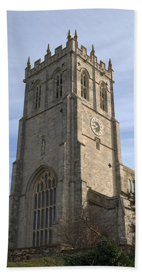 Christchurch Bath Sheet featuring the photograph Christchurch Priory Bell Tower by Chris Day