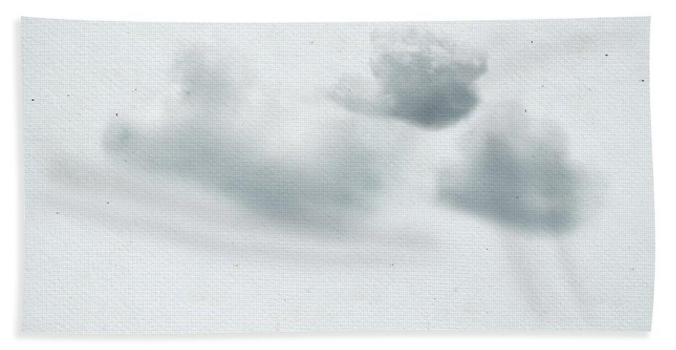 Abstract Bath Sheet featuring the painting Clouds by Setsiri Silapasuwanchai
