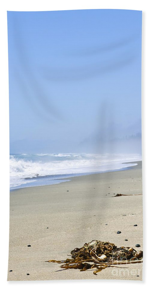 Pacific Hand Towel featuring the photograph Coast Of Pacific Ocean In Canada by Elena Elisseeva