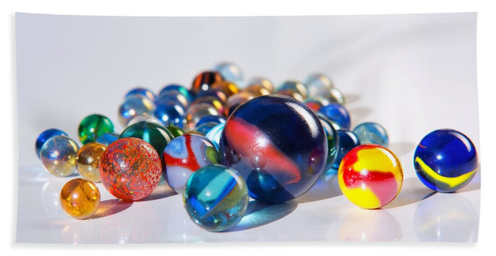 Abstract Bath Sheet featuring the photograph Colorful Marbles by Carlos Caetano