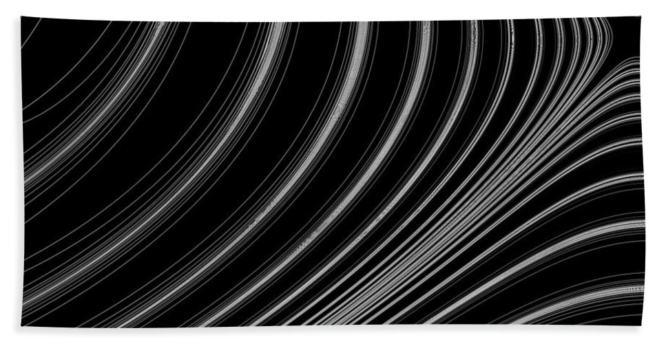 Curve Bath Sheet featuring the digital art Curve Art by David Pyatt