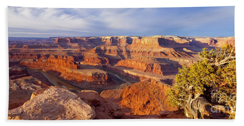 America Hand Towel featuring the photograph Dead Horse Point by Brian Jannsen