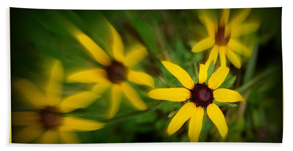 Yellow Hand Towel featuring the photograph Delight by Priscilla Richardson