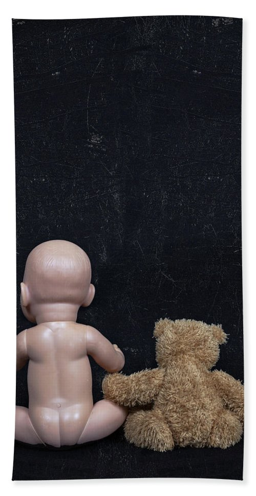 Teddy Hand Towel featuring the photograph Doll And Bear by Joana Kruse