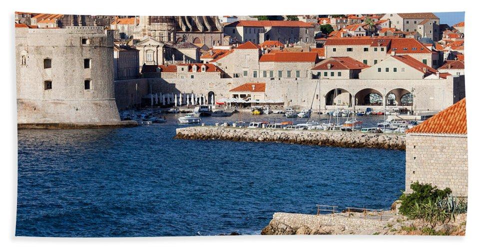 Dubrovnik Bath Sheet featuring the photograph Dubrovnik Old City Architecture by Artur Bogacki