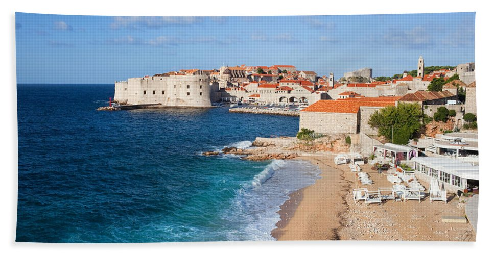 Dubrovnik Bath Sheet featuring the photograph Dubrovnik Scenery by Artur Bogacki