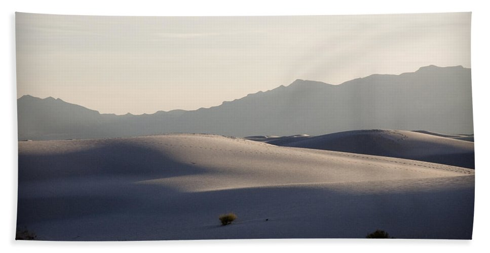 New Mexico Bath Sheet featuring the photograph Dunes 4 by Sean Wray